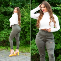 Blugi Curvy Girls Sexy Slim Fit Fashion