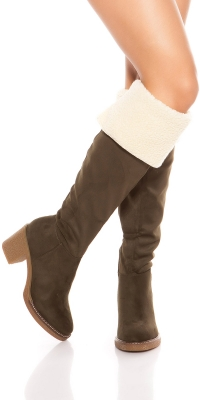 la moda Overknees boots lined It s Up2U