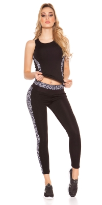 la moda Workout Outfit cu Top si colanti