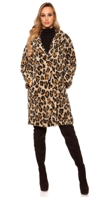 la moda coat in leopard look