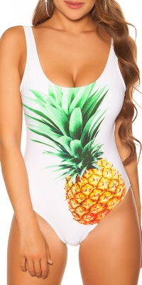 la moda swimsuit cu pineapple imprimeu padded