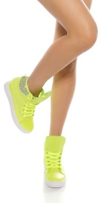 Adidasi cu platforma la moda cu strasuri