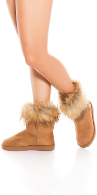 la moda winter boots lined cu blana artificiala