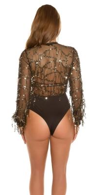 sexy de petrecere bodysuit cu paiete threads