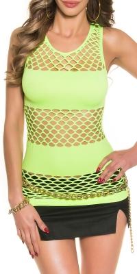 sexy neon net top