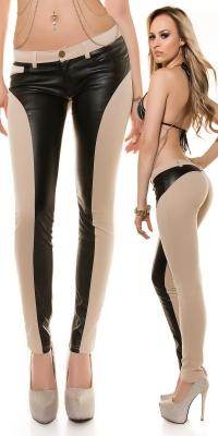 Pantaloni piele ecologica sexy cu efect de PushUp