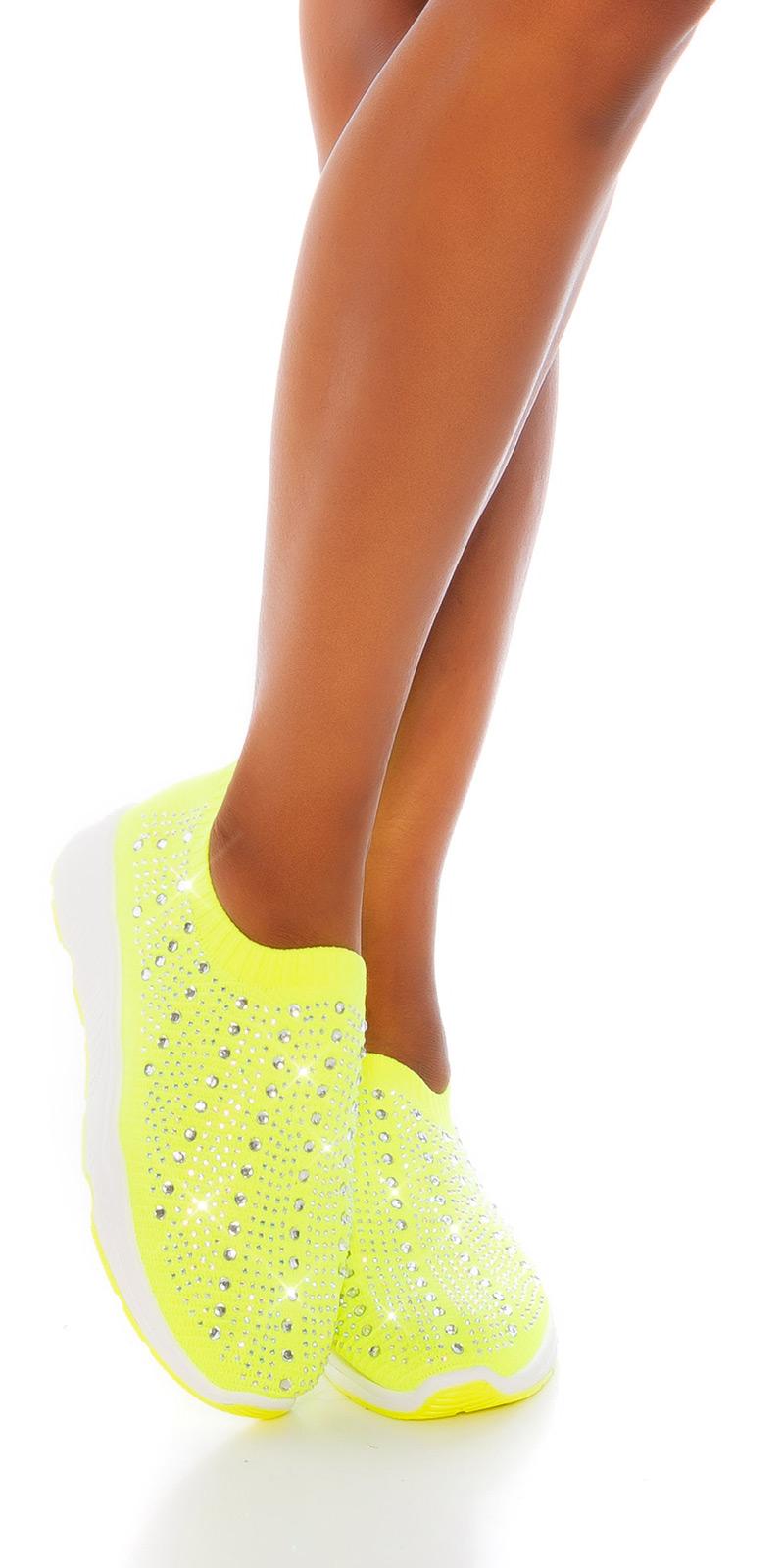 Adidasi la moda slip-on cu glittering strasuri