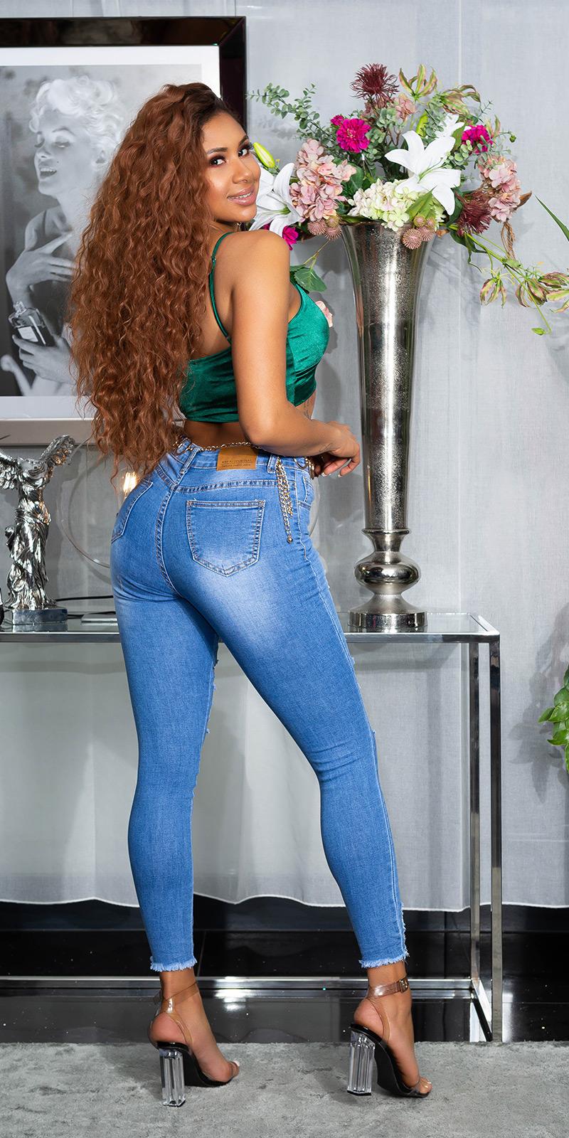 Blugi Sexy Skinny aspect uzat