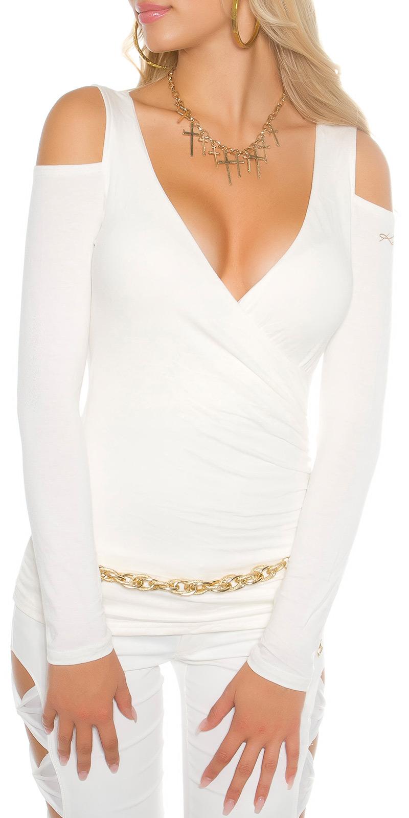 Bluze maneca lunga sexy cu umerii goi model petrecut