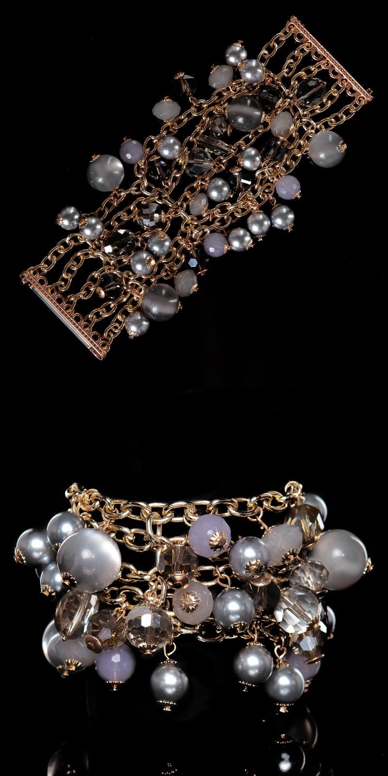 Bratari cu perle la moda