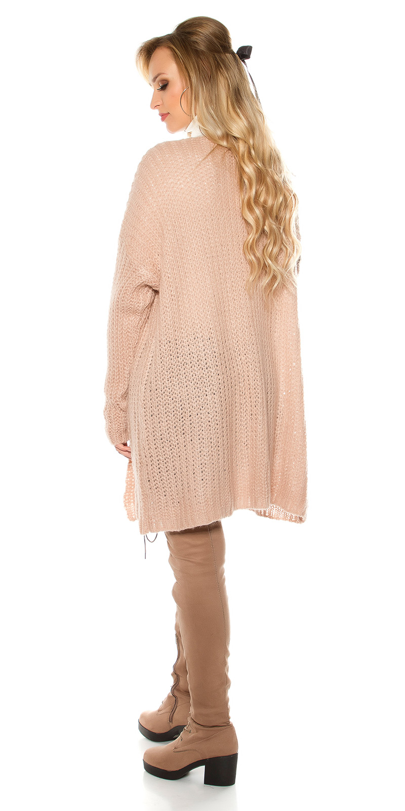 Cardigan la moda model gros tricot
