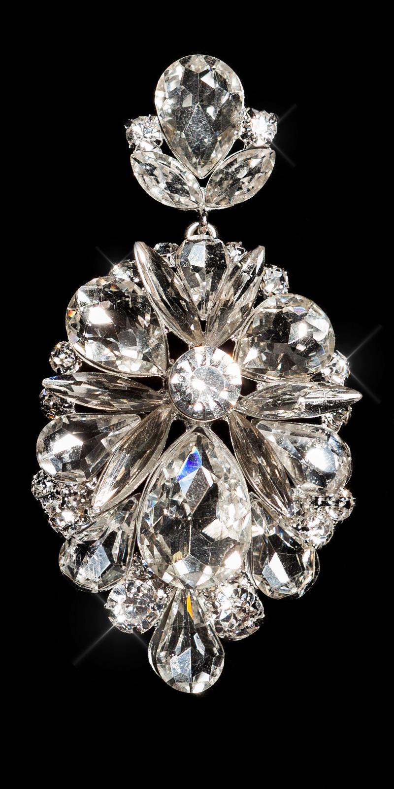 Cercei Elegant statement crystal / cu strasuri