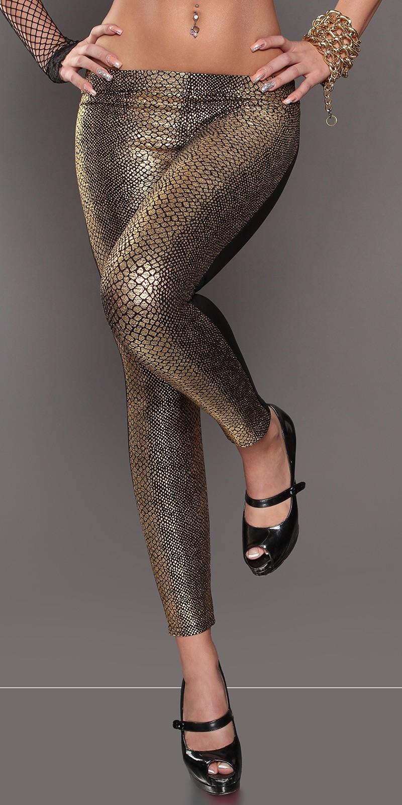 Colanti Sexy cu snake-imprimeu