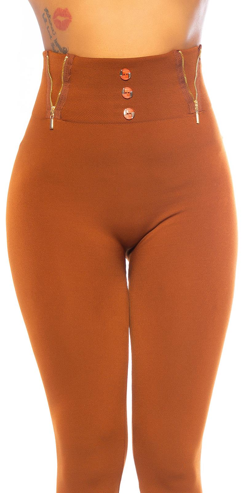 Colanti Sexy cu talie inalta Fashion Thermo /fermoar Detail