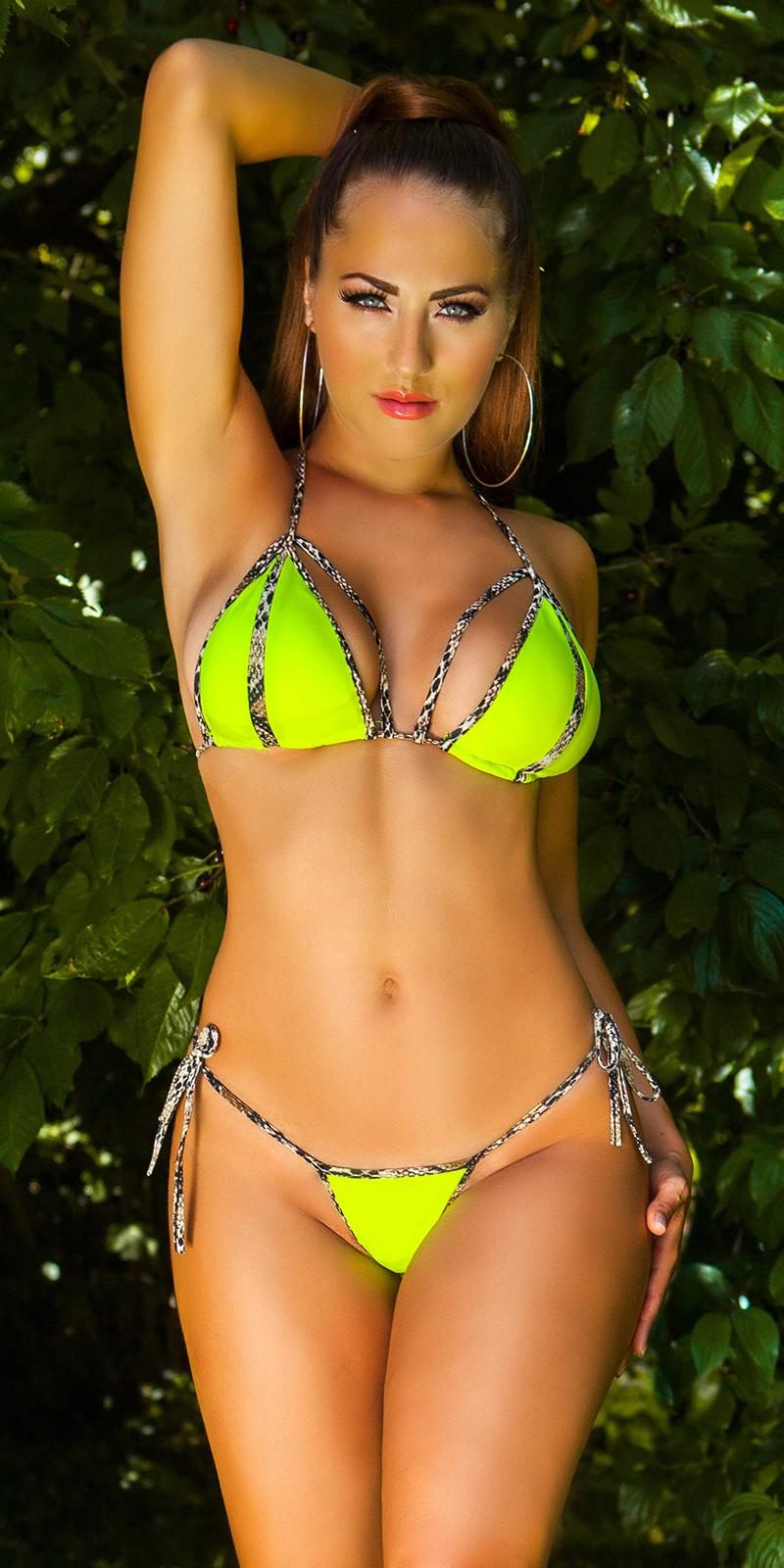 Costum de baie in doua piese Sexy Neck- cu buretei detasabili