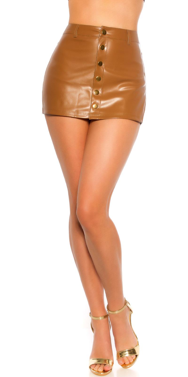 Fusta pantaloni sexy Mini piele ecologica