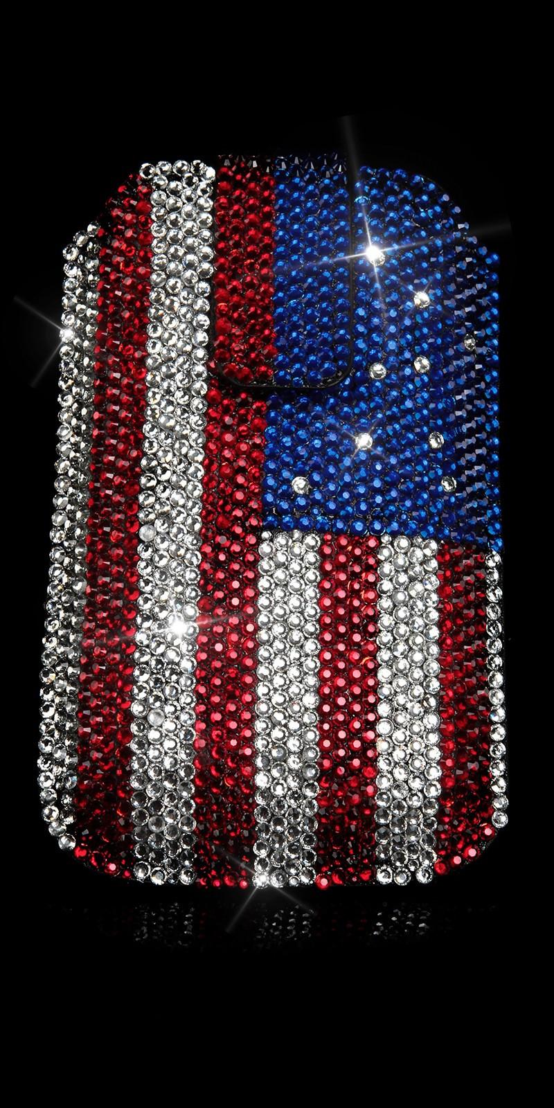 Glamour Phonebag cu US Flag