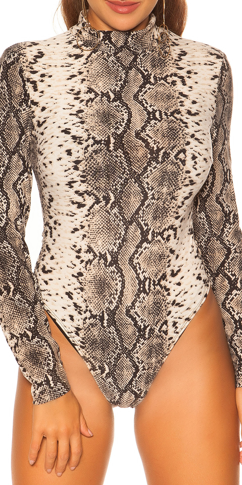 Helanca Body sexy print leopard