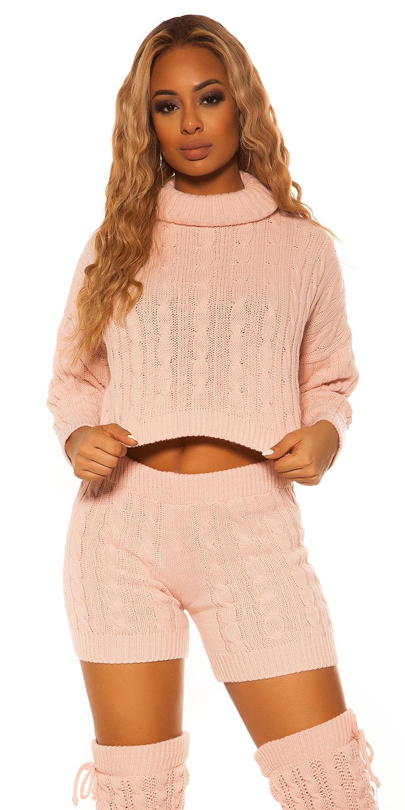 Helanca Pantaloni scurti Pulovere sexy Set tricot &