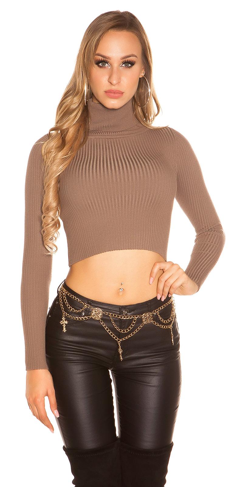 Helanca Pulovere sexy buricul gol-din tricot