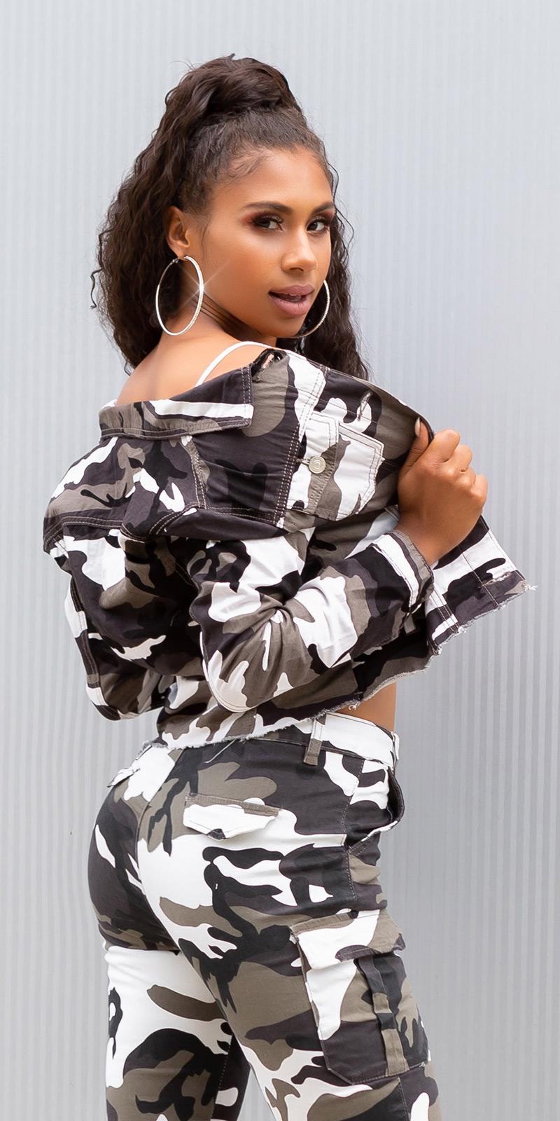 Jachete dama Sexy cropped military style