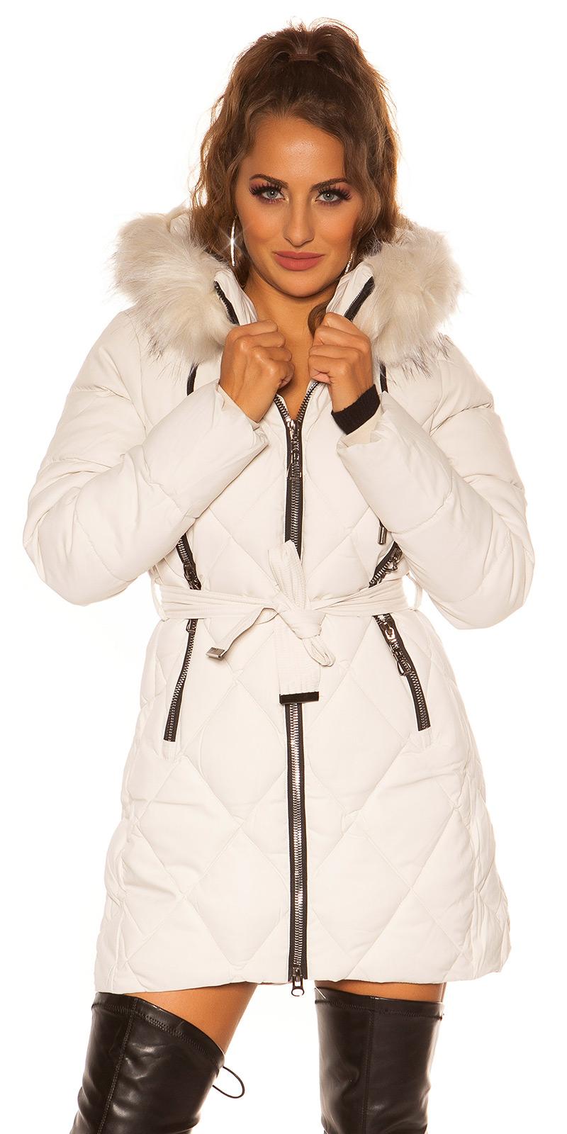Jachete dama Sexy winter w. curea, ONLY blanita removable