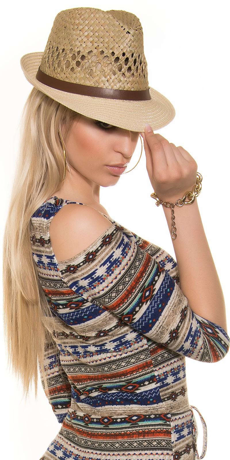 Palarie la moda cu insertii piele ecologica strap