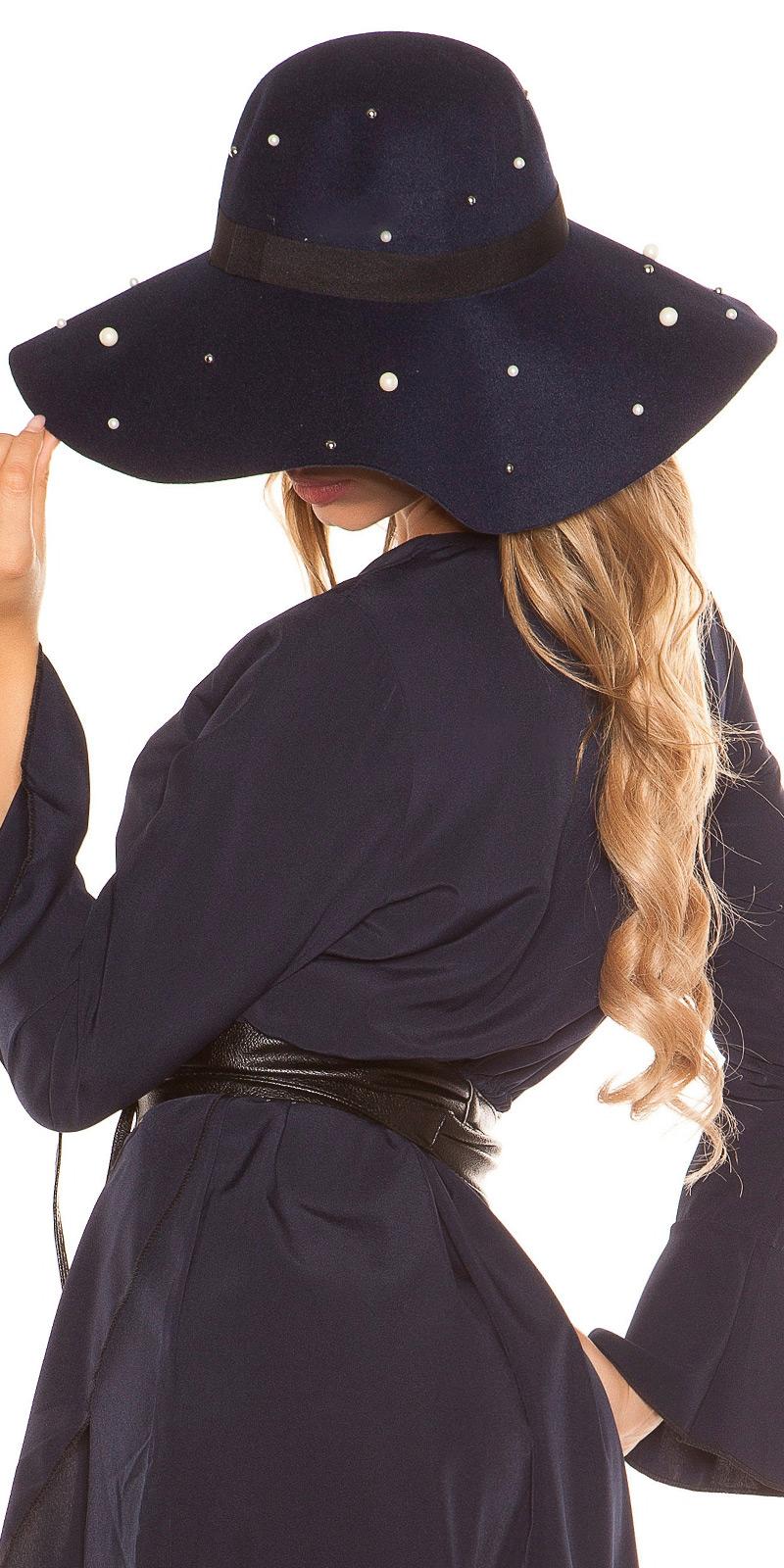 Palarie la moda felt boho style w. margelute
