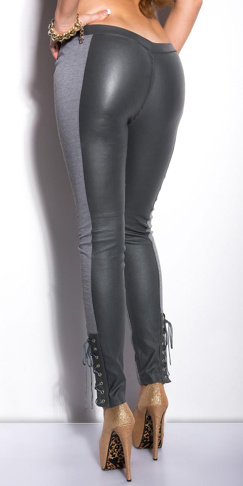 Pantaloni colanti sexy cu siret on leg
