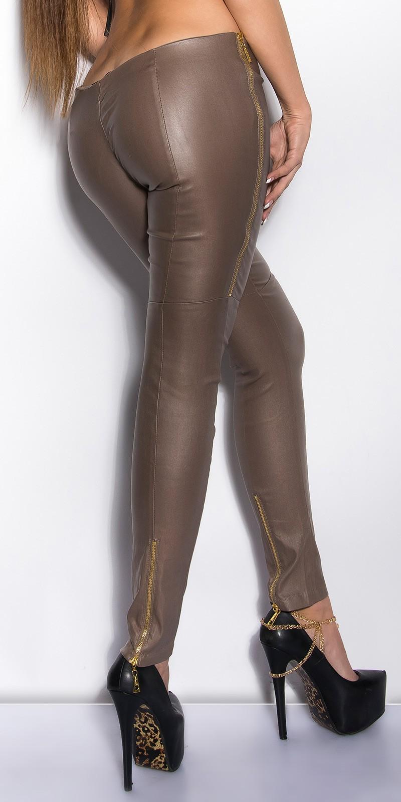 Pantaloni colanti sexy cu fermoars