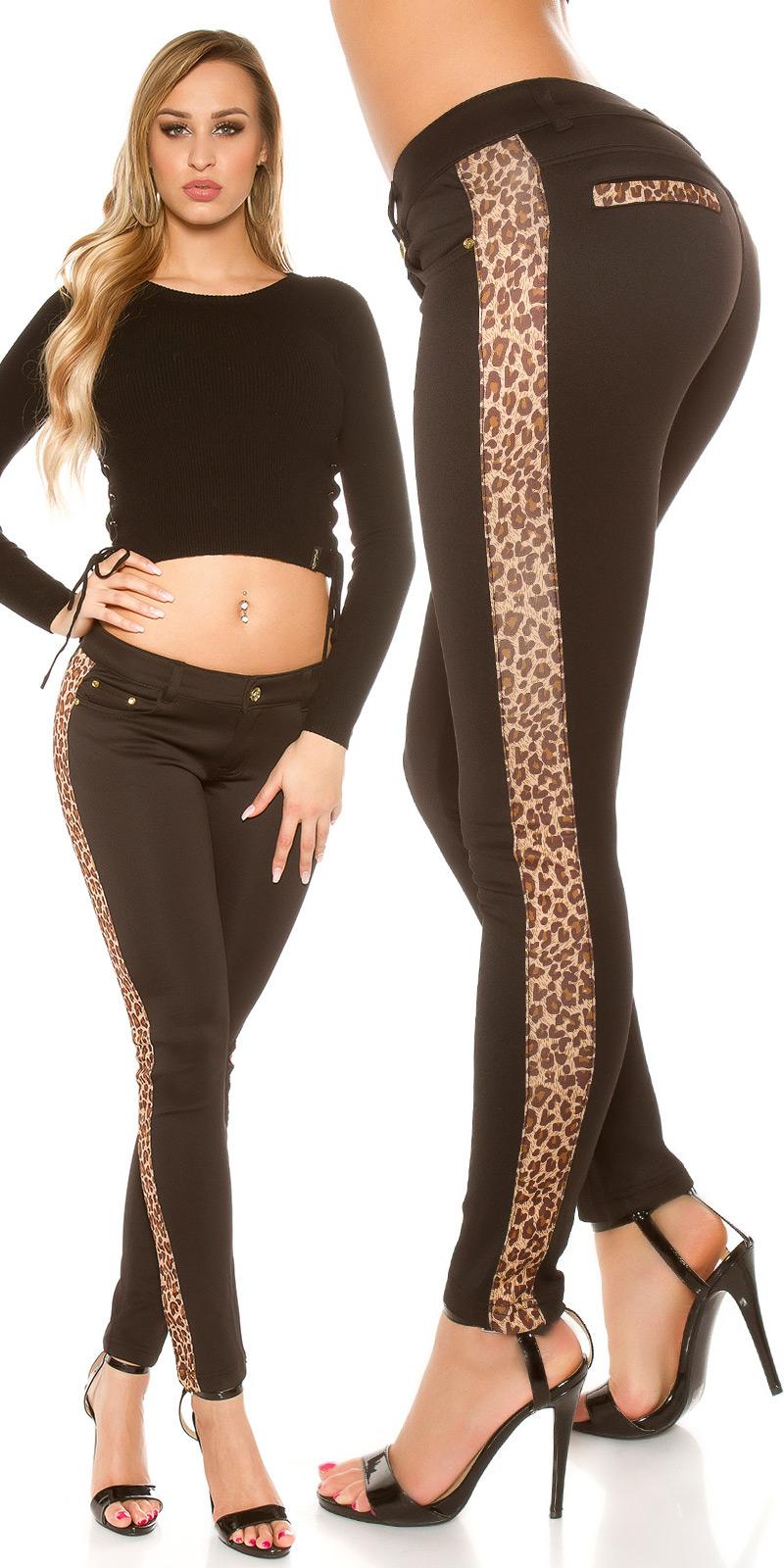 Pantaloni colanti Sexy cu leopard