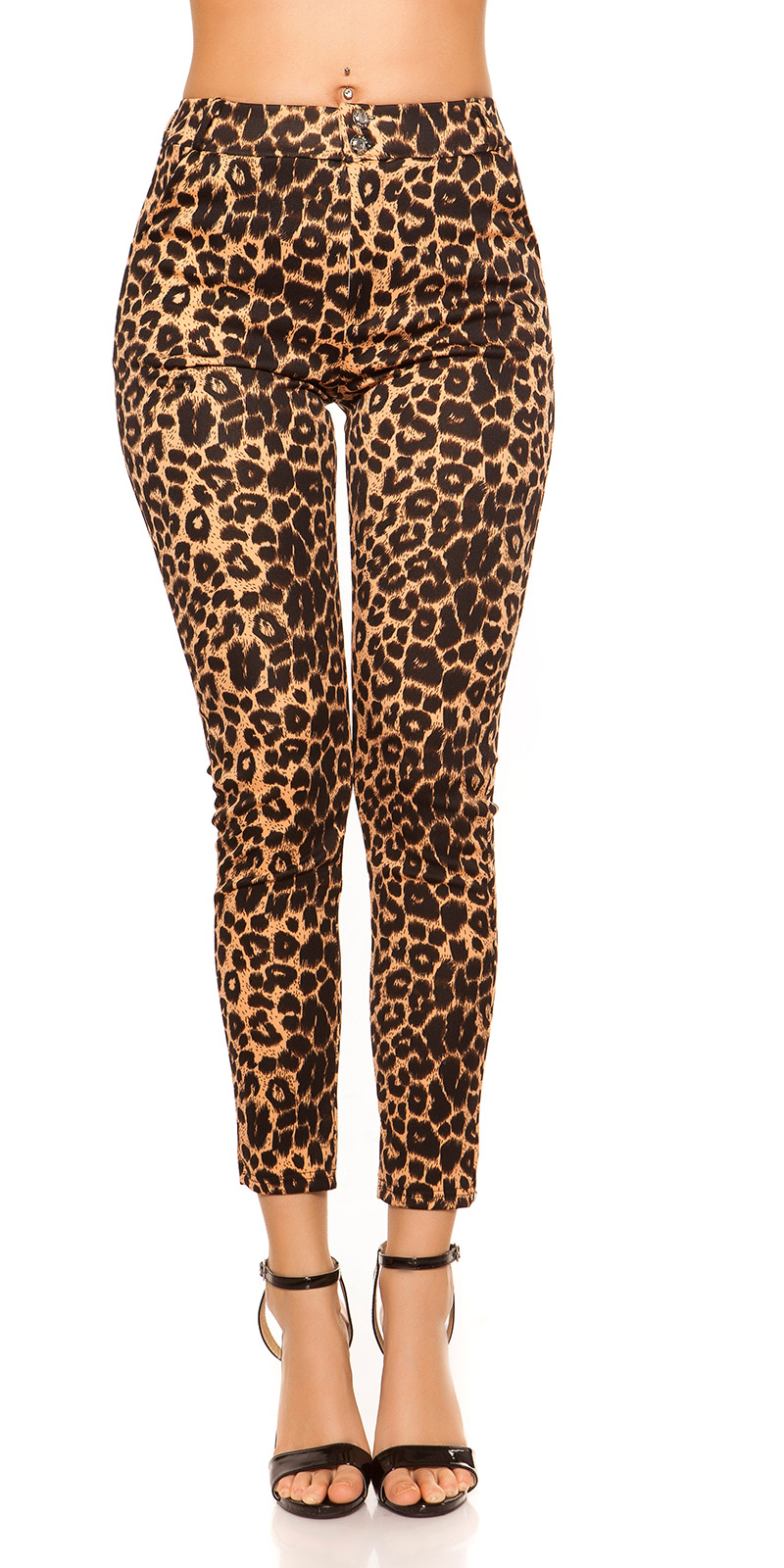 Pantaloni colanti la moda in imprimeu leopard