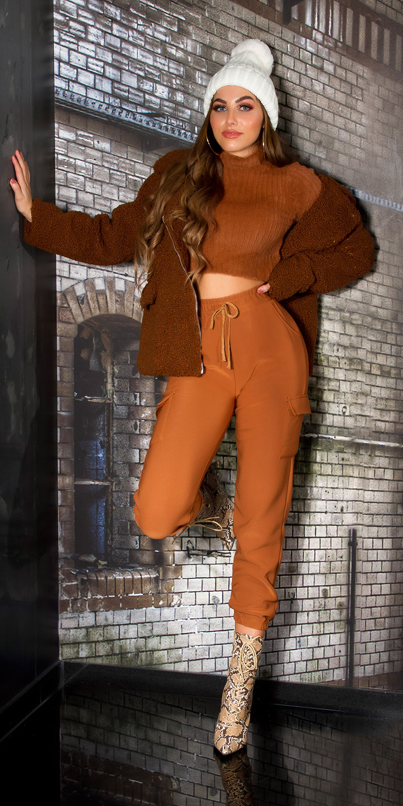 Pantaloni la moda siret Cargo /Thermo