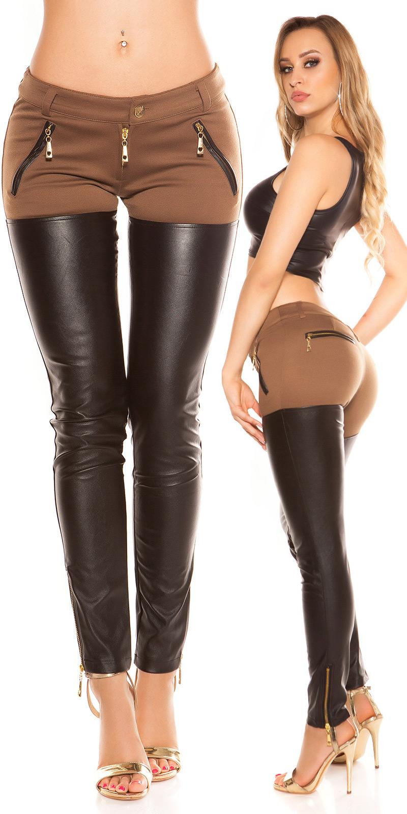 Pantaloni la moda skinny cu fermoar