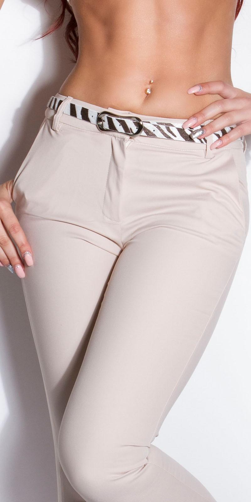 Pantaloni office dama sexy cu zebra-curea
