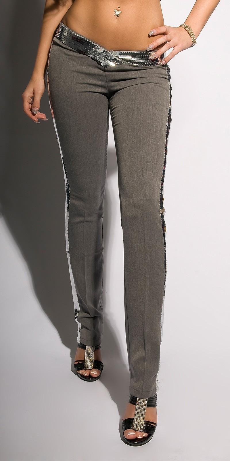 Pantaloni pentru club Sexy cu paiete