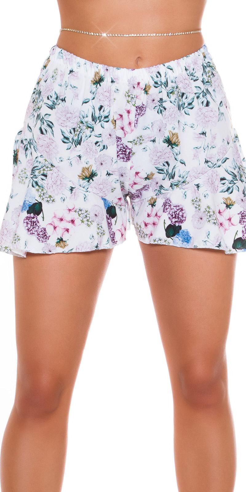 Pantaloni scurti Sexy cu incretituriFloral