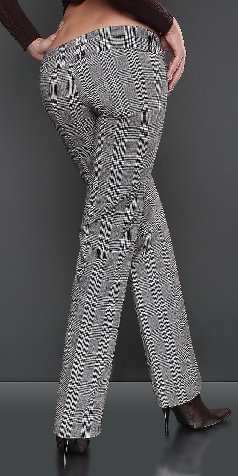Pantaloni sexy cu patratele cu catarama