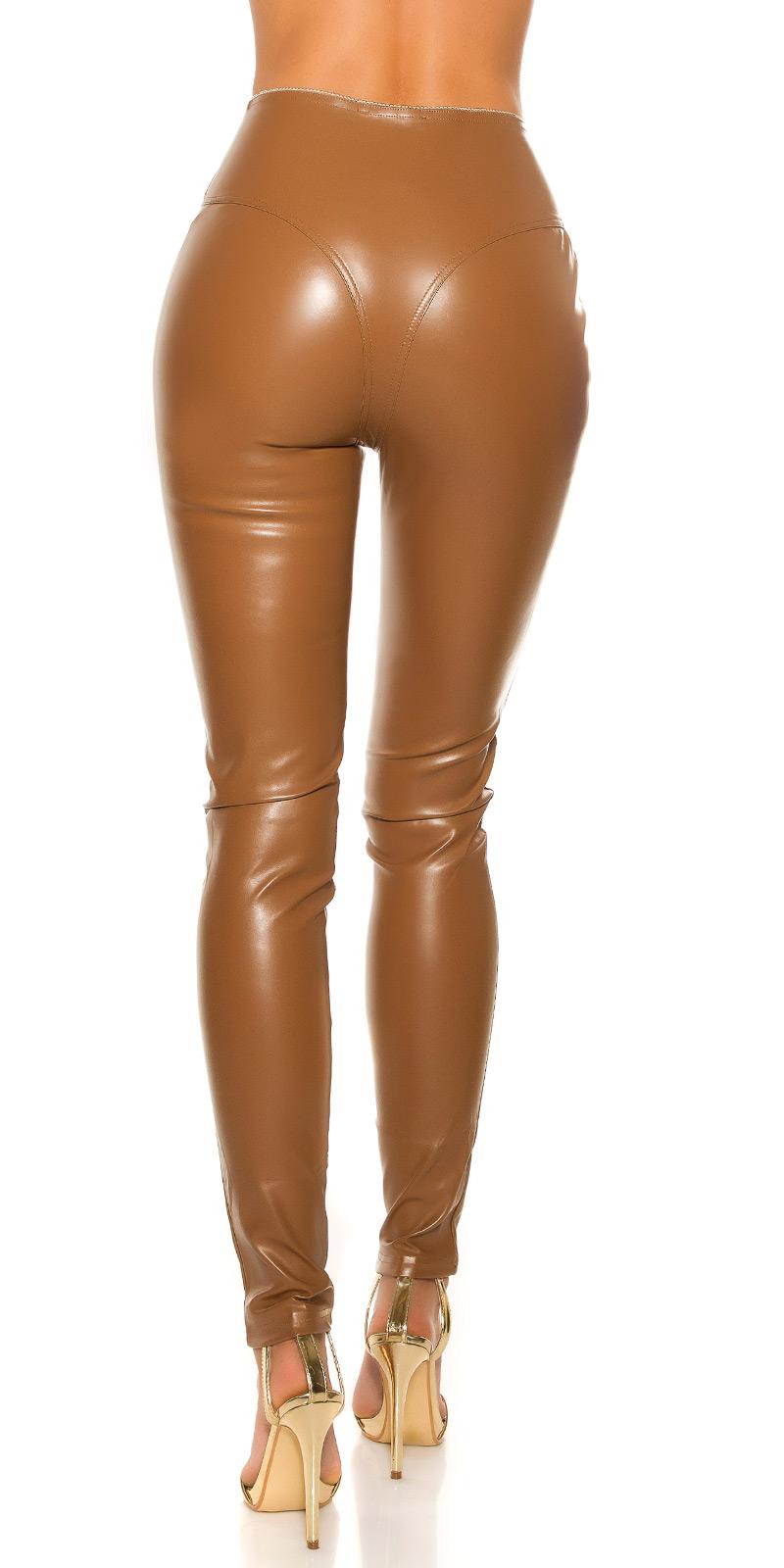 Pantaloni sexy piele ecologica cu fermoar