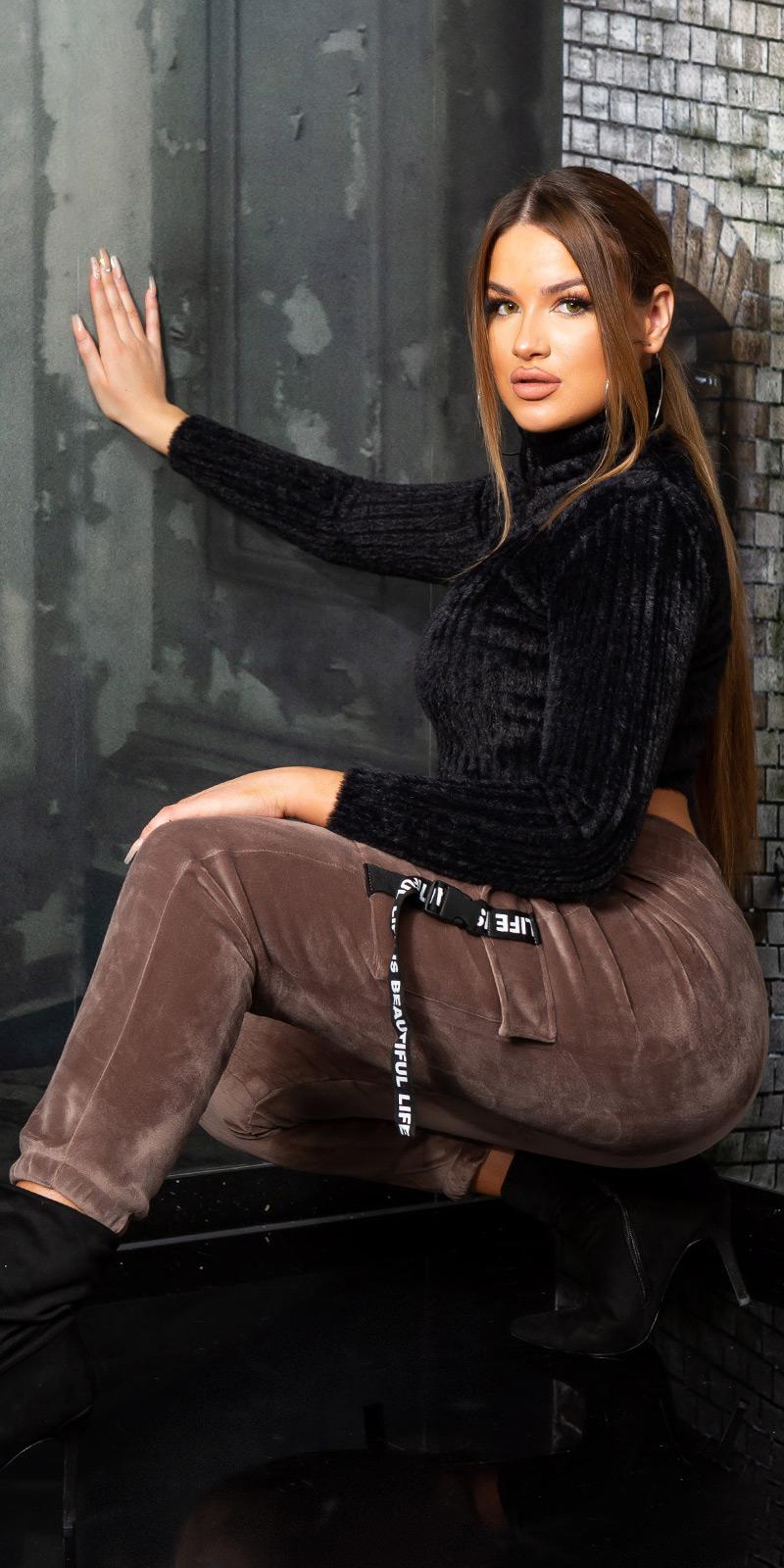Pantaloni sport la moda LIFE IS BEAUTIFUL / Thermo
