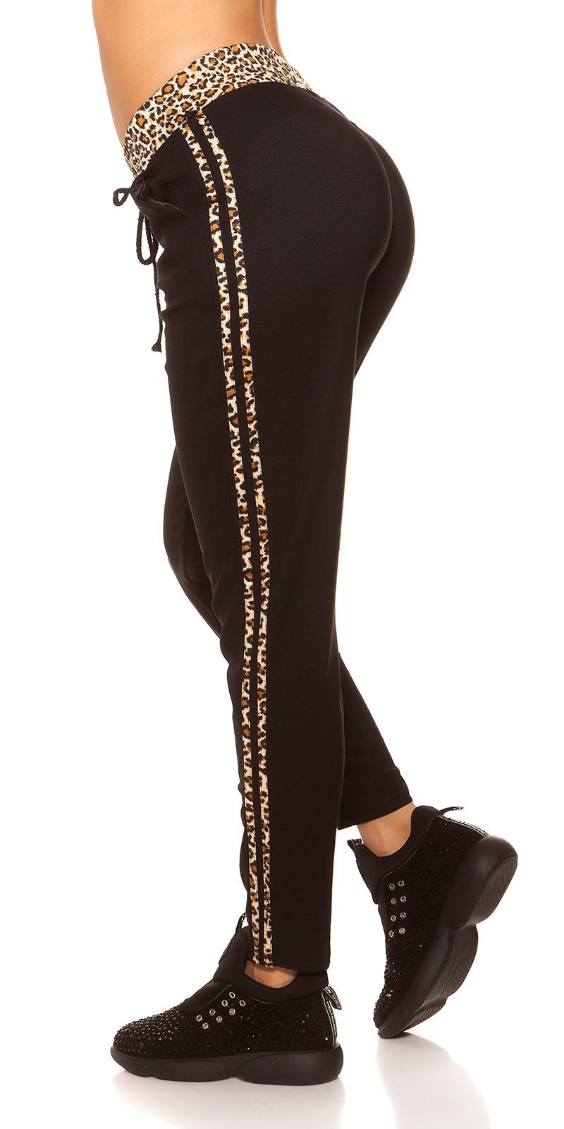 Pantaloni sport la moda cu leopard stripes