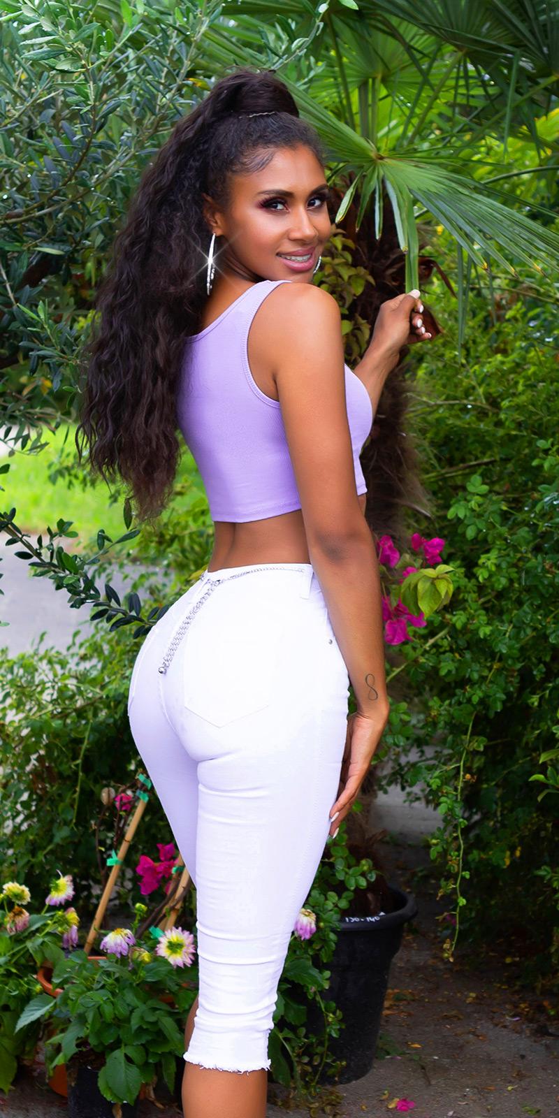 Pantaloni trei sferturi Blugi Sexy push-up