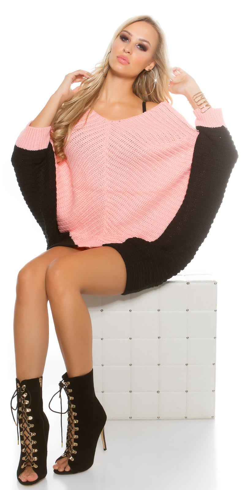 Pulover la moda bat tricot supradimensionat