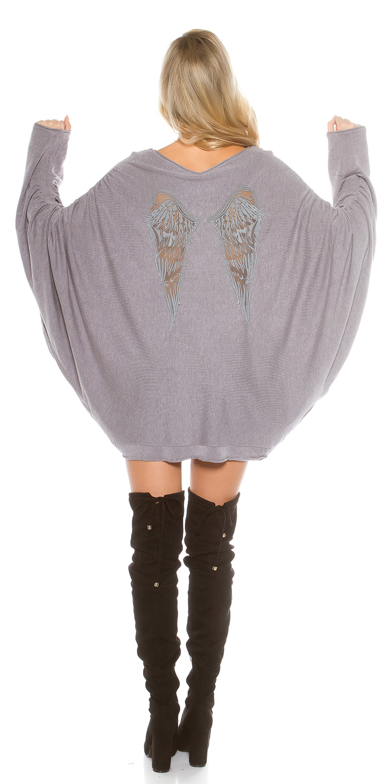 Pulover la moda supradimensionat Bat