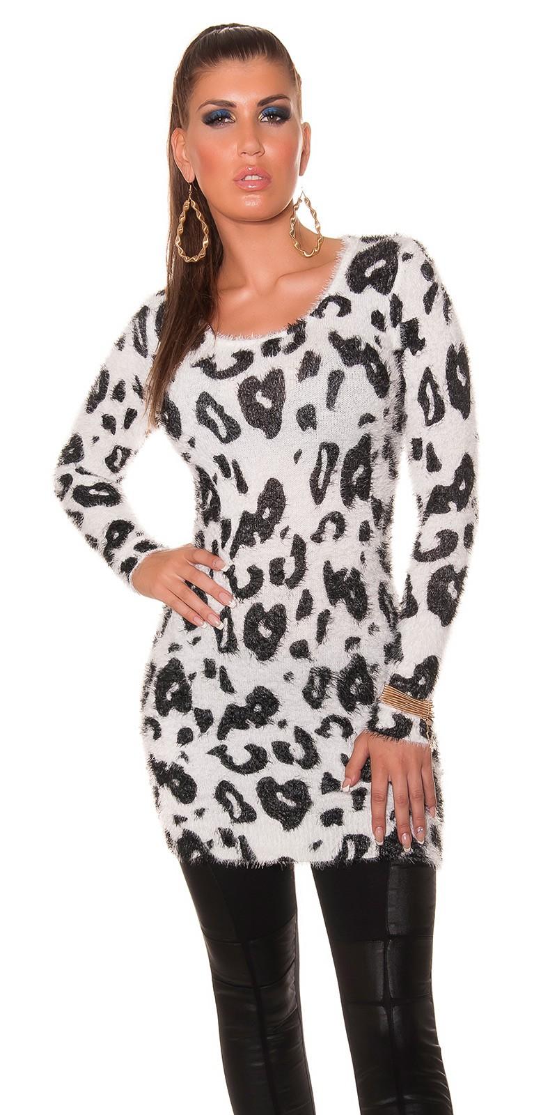 Pulovere Sexy imprimeu leopard Long