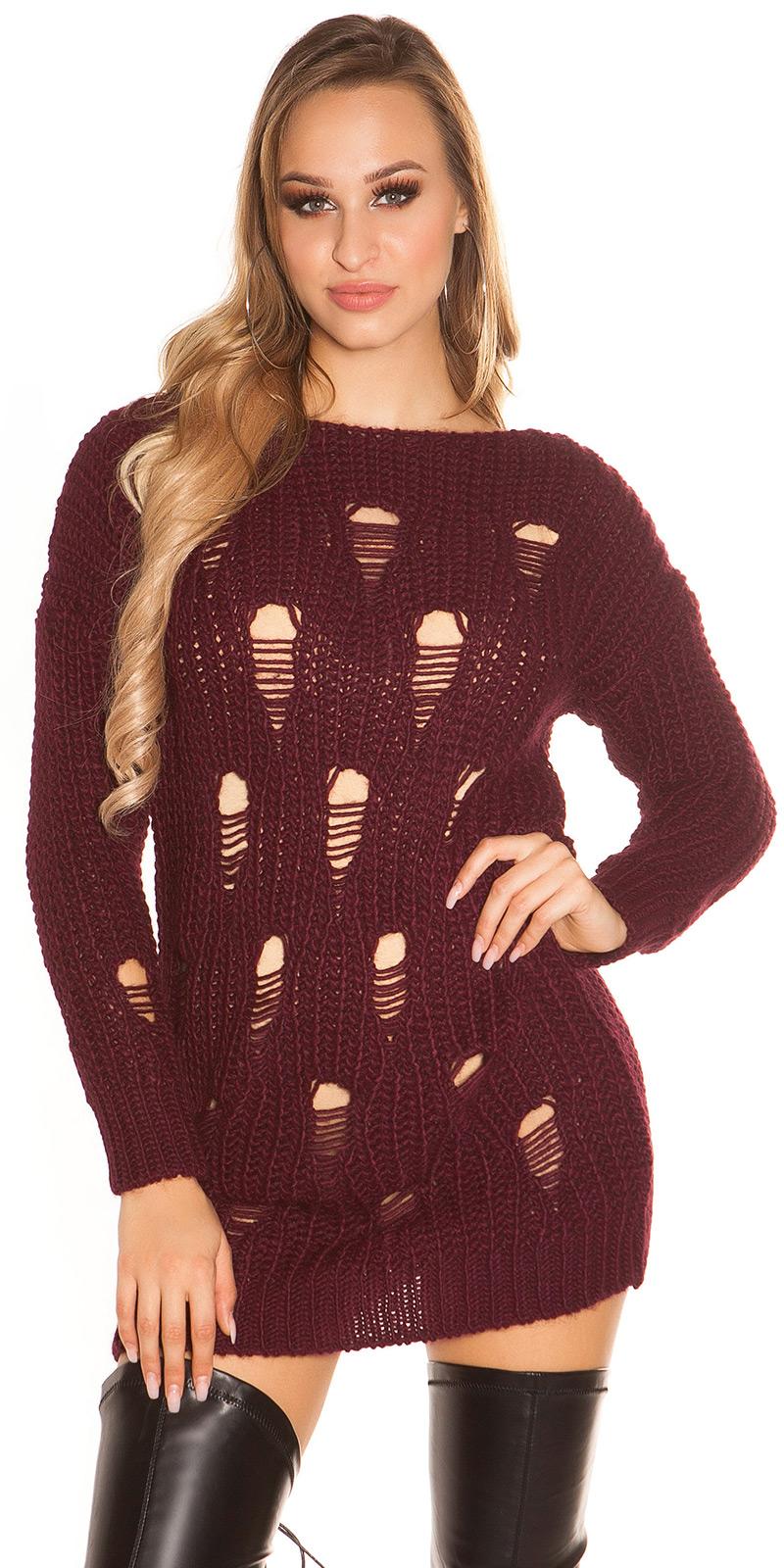 Pulovere la moda model gros tricot long aspect uzat