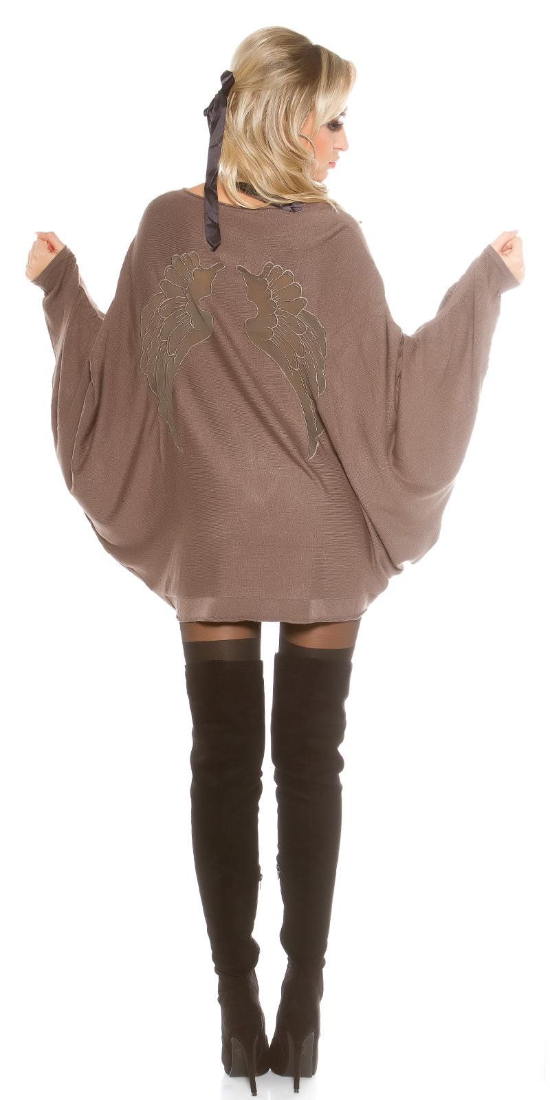 Pulovere la moda supradimensionat bat AngelWings