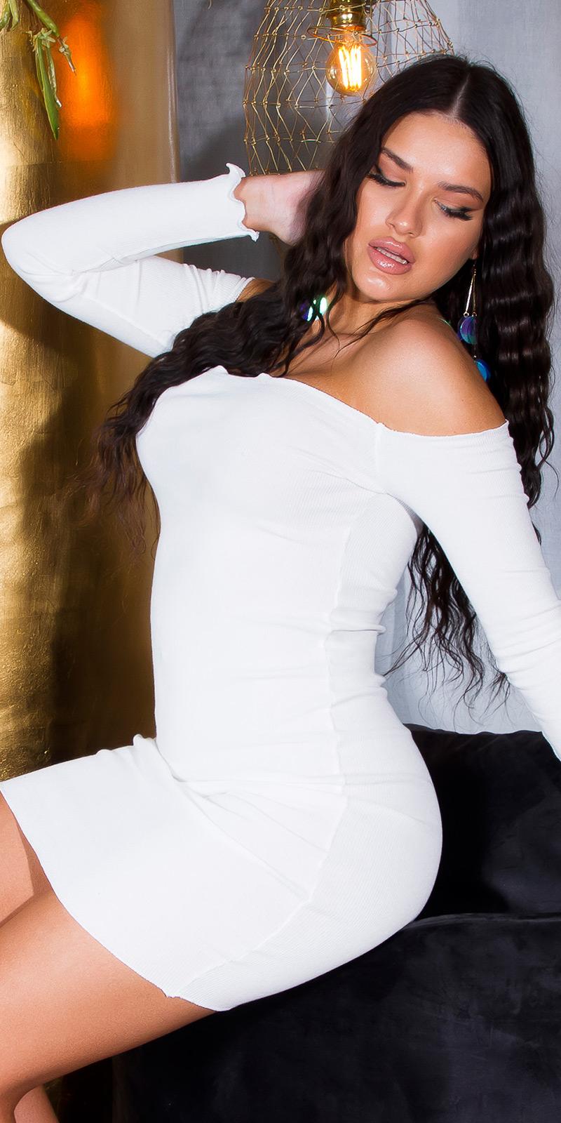 Rochie Bodycon Sexy Basic Geripptes umerii goi