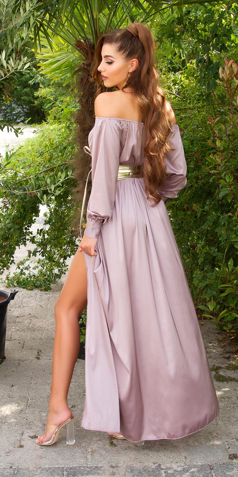 Rochie lunga sexy Satin-Look