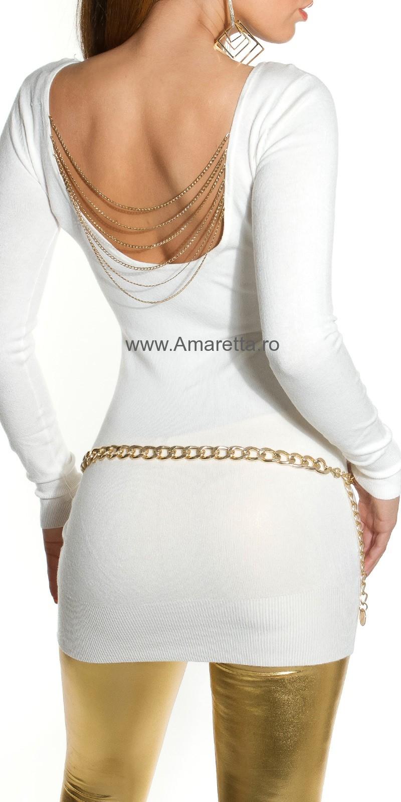 Rochie mini sexy tricot-cu lanturi